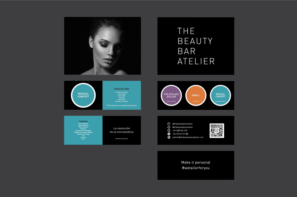 Diseño grafico, Isabel Torres. The Beauty Bar Atelier