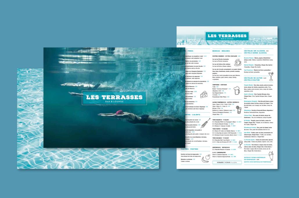 Diseño gráfico Isabel Torres. Cartas restaurante