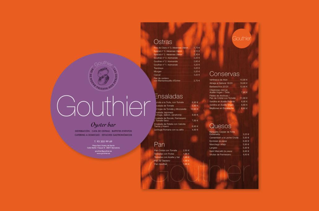 Diseño grafico, Isabel Torres. Gouthier adhesivo