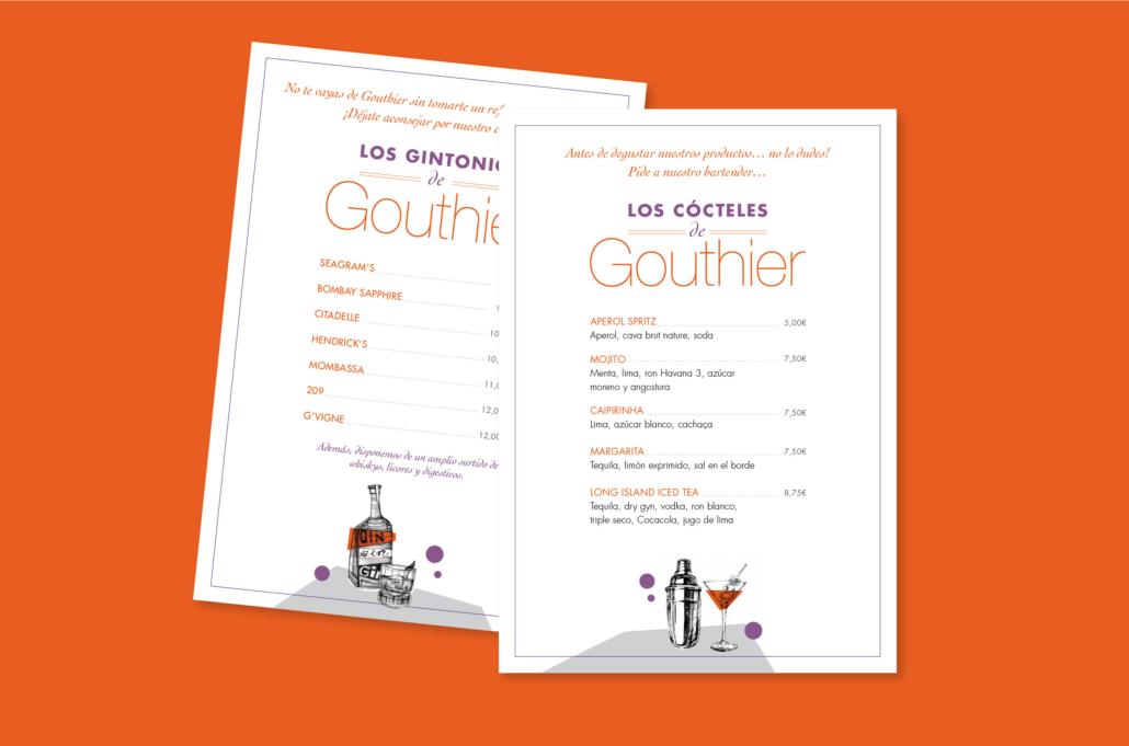 Diseño grafico, Isabel Torres. Gouthier aperitivos