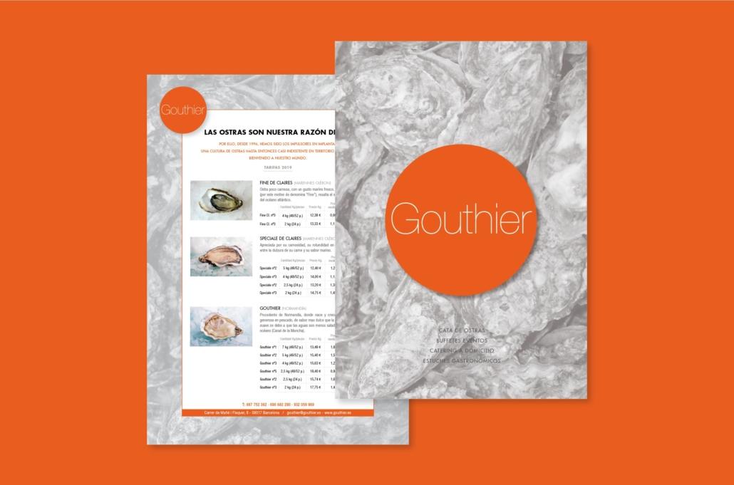 Diseño grafico, Isabel Torres. Gouthier Tarifas