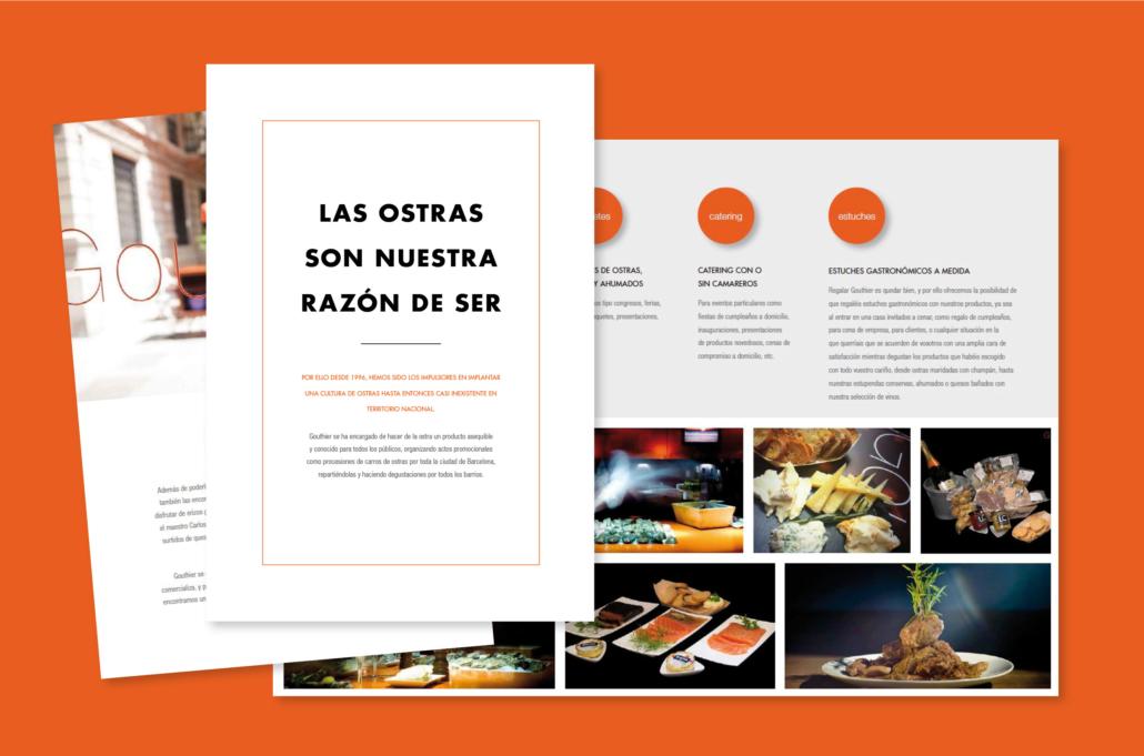 Diseño grafico, Isabel Torres. Gouthier Triptico