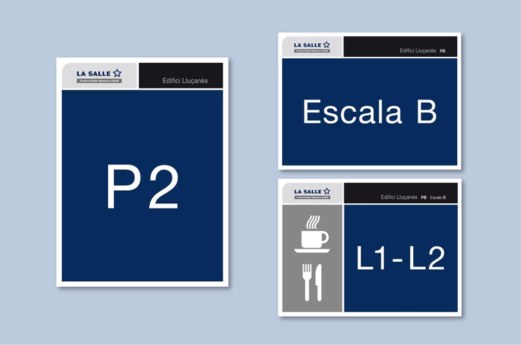 Diseño grafico, Isabel Torres. La Salle Señalética